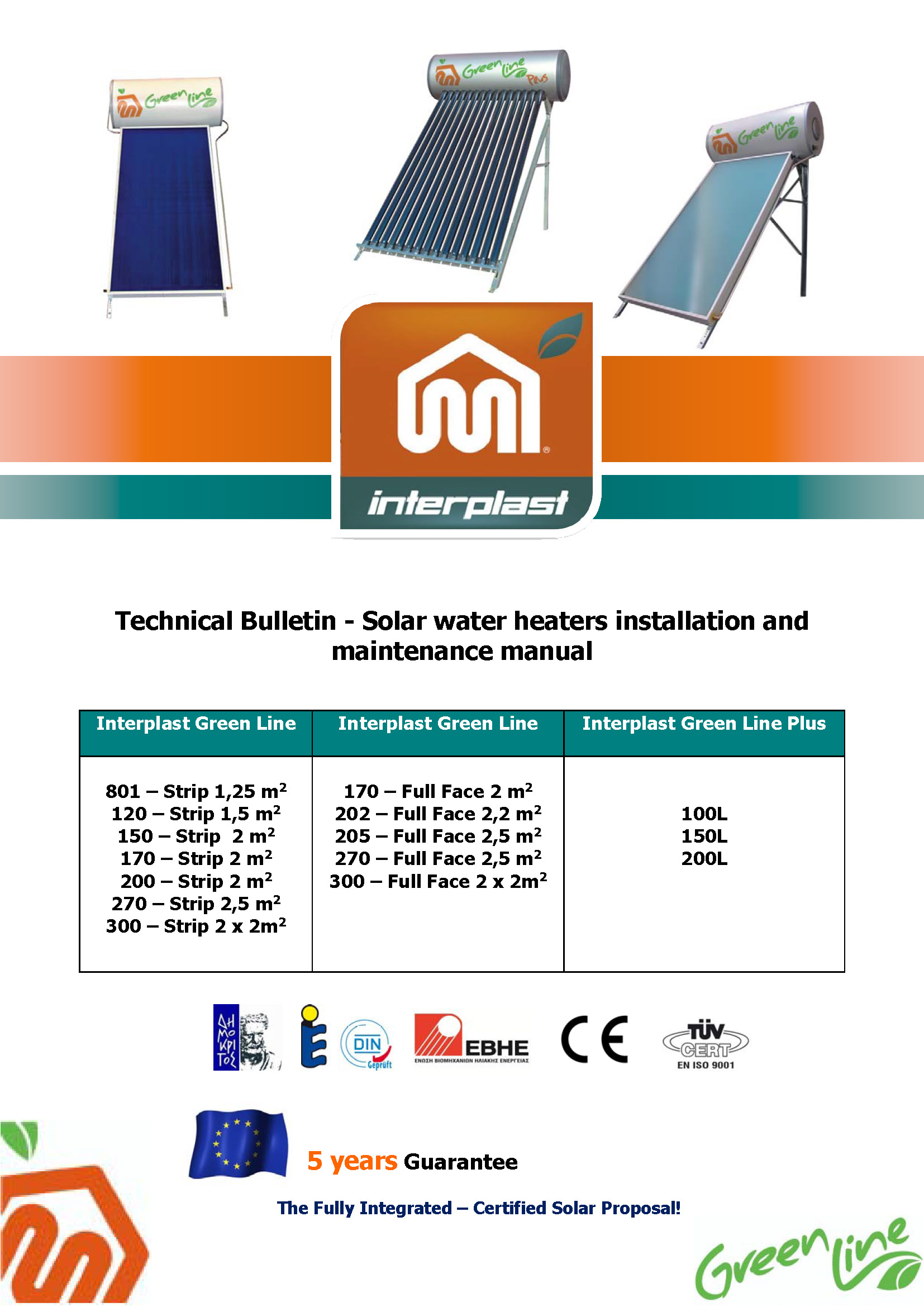 Solar Water Heaters Μanual (ENG)